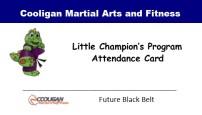 Little Champions Attendance Card